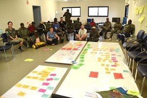 Workshop in Ramingining to develop 'road-maps' for the strategies in the Healthy Country Plan.<br/>