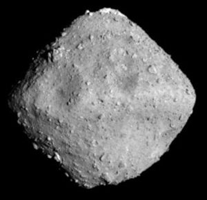 The asteroid 162173 Ryugu, as it appeared to the Hayabusa II spacecraft at 03:50 UTC on 26 June 2018. <br/>The photo was taken by the spacecraft's Optical Navigation Camera – Telescopic (ONC-T) at a distance of 20km (12 miles).