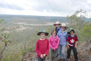 Town meets country with the Wilkinson and the Wilson kids on top of Mount Lambert<br/>
