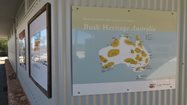 One of our new signs, illustrating the location of Bush Heritage Australia's conservation work.<br/>