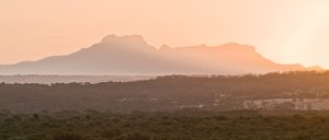 Sunset view of the Stirling Ranges.<br/>
