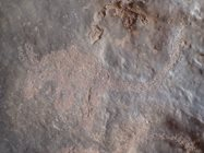 Petroglyphs are a form of rock art made by pecking the surface away with a stone hammer.<br/>