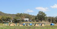 The Bush Blitz tent city on Carnarvon Station Reserve<br/>