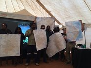 Rangers standing up and sharing their knowledge about where bilbies are left in the wild.<br/>