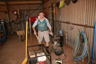 Ron McInnes, a keen cleaning volunteer, helped us clean out the workshop and storage sheds.<br/>