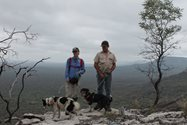 Lloyd and Amanda Hancock and their two quoll detection dogs &#039;Sparky&#039; and &#039;Kuna&#039;.<br/>