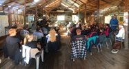 Full house in the old shearing shed. Photo by Richard McLellan.<br/>