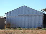 New down pipe on the old Eurardy Shearing Shed<br/>
