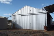 Rainwater rerouted on the Shearing Shed (Photo: Ian Fletcher)<br/>