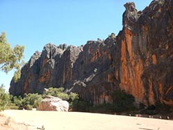 The main pool at Windjana gorge on Bunuba country.