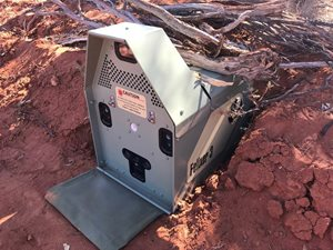 Felixer cat traps have been trialled at the reserve. Photo Dr Alex Kutt.