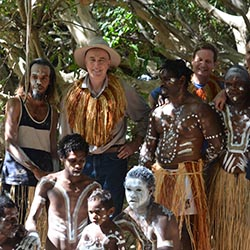 Bush Heritage CEO Gerard O'Neill at an Umpila welcome-to-country ceremony