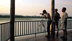 Bird watching from the visitor centre. Photo courtesy Mareeba Wetland Foundation.