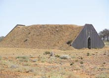 Bomb shelter, as constructed by the government in the 1950s on all properties in the Woomera military zone. Photo Steve Heggie.
