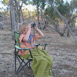 Toby Prothero looks for wildlife