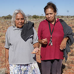 Antakirinja Matu-Yankunytjatjara Elders Emily Austin and Lois Brown