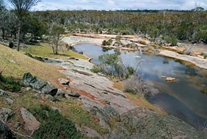 Freshwater pool and granite outcrop, Chereninup Creek Reserve. Photo Chinch Gryniewicz.