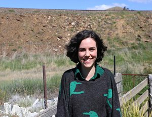 Volunteer Casey Gough, one of 15 Bush Heritage volunteers who surveyed platypus on the Upper Murrumbidgee River adjoining Scottsdale Reserve. Photo Phil Palmer.