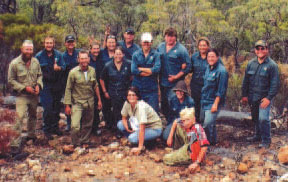The Green Corps team on Carnarvon. Photo Carl Rudd.