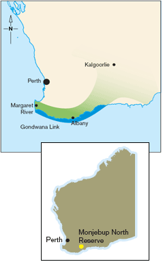 Map of Monjebup North location