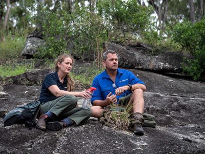 Leanne and Paul Hales who manages our Yourka Reserve. Photo Brian Cassey.