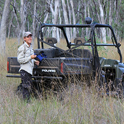 Emma Burgess at Carnarvon Station Reserve. Photo by Donna Oliver