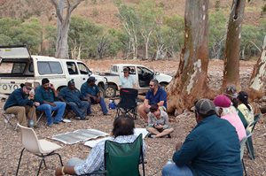 Adnyamathanha Traditional Owners at a healthy country planning workshop. Photo by Karen Clarke.