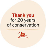 Thankyou for 20 years of conservation