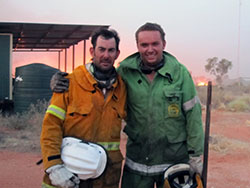 Bush Heritage reserve staff Al Dermer and Mo