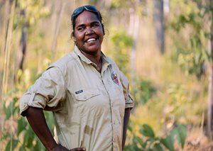 Uunguu Ranger Leonie Cheinmora. Photo Wunambal Gaambera Aboriginal Corporation.