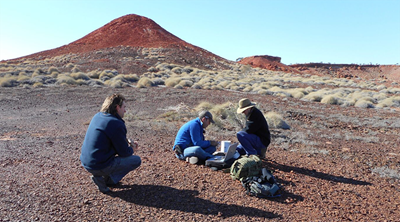 The Night Parrot Recovery Team at work. Photo by Cineport.