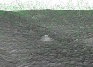 3D image of a Malleefowl mound generated through LiDAR.