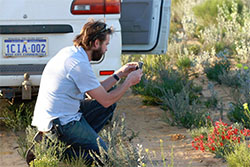 Reserve manager Luke Bailey photographs wildflowers