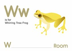 W is for Whirring Tree Frog.