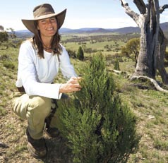 Lauren Van Dyke, Project Facilitator, Kosciuszko to Coast partnership. Photo Eddie Misic.