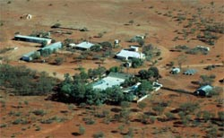 Aerial view of Bon Bon Station Reserve homestead, SA. Photo Hugh Pringle.