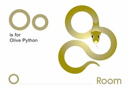 O is for Olive Python.