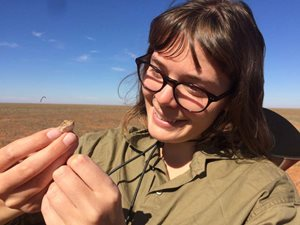 Bush Heritage science intern Emily Mathews. Photo Dianne Davies.
