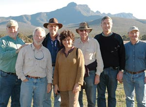 David Thomas (third from left) visiting Yarrabee Wesfarmers Reserve, part of Gondwana Link, with members of the Thomas Foundation and The Nature Conservancy. Photo courtesy Gondwana Link Coordination Unit.