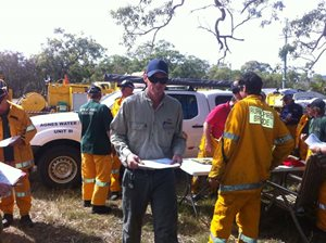 Reedy Creek Reserve Manager Mat McLean helping QLD parks and the local fire brigade implement controlled burns in the area around the reserve.