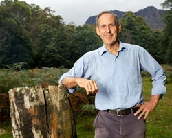 Dr Bob Brown in the Liffey Valley, Tasmania