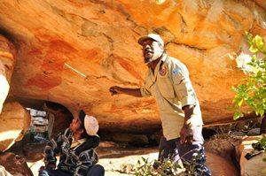 Uunguu includes culturally significant Wanjina and Gwion rock art, which is a conservation target.