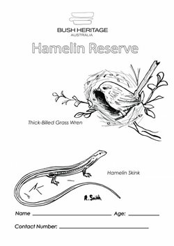 Colouring in sheet for Hamelin Reserve (WA).